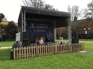 Outdoor Truss Stage Hire from RTR roductions