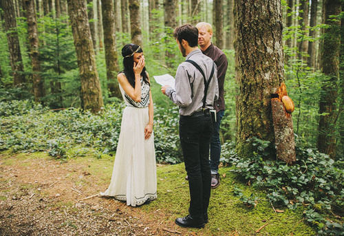 Beautiful bush wedding